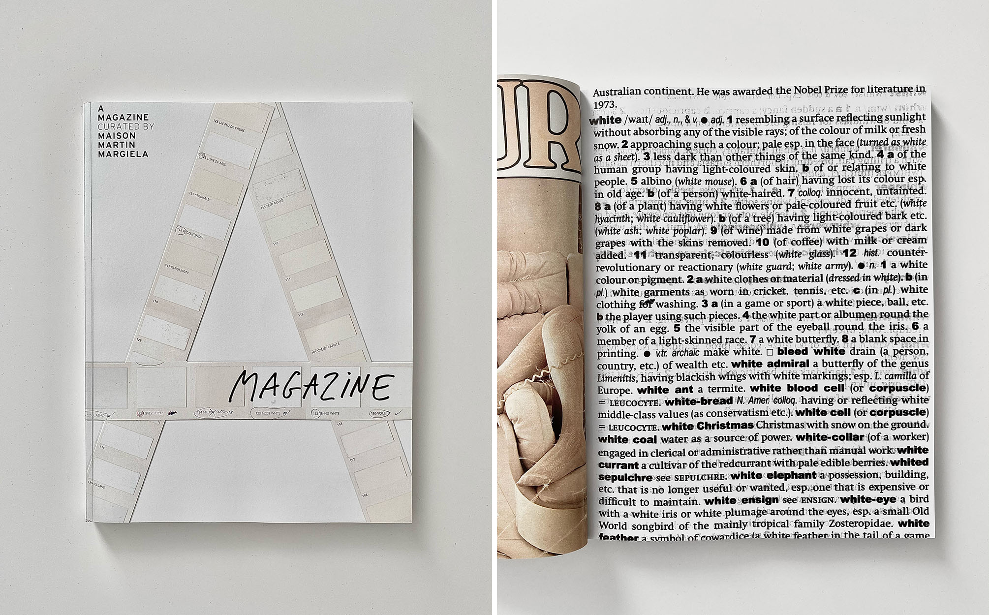 a magazine curated by maison martin margiela reprint 2021 cover